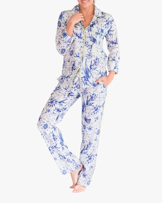 The Lazy Poet Emma Linen Pajama Set 1