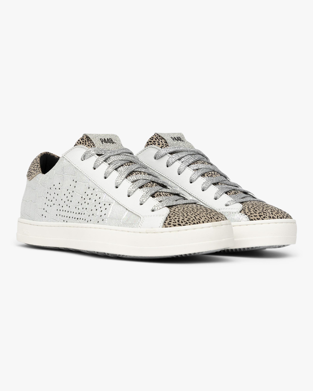 P448 John Silver Croc Leopard Sneaker 1