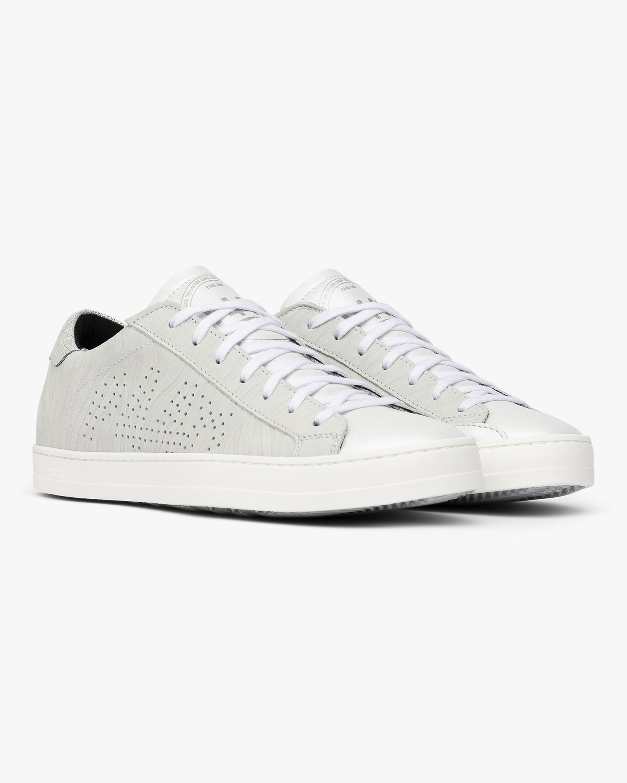 John White Zebra Sneaker