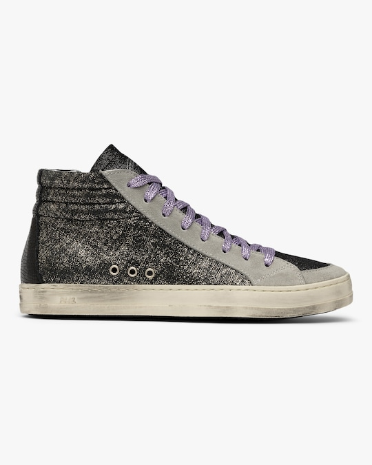 P448 Skate Black Glitter High-Top Sneaker 0