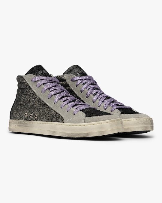 P448 Skate Black Glitter High-Top Sneaker 1