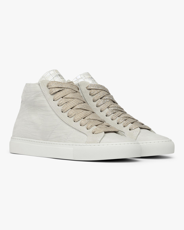 Skate White Zebra High-Top Sneaker