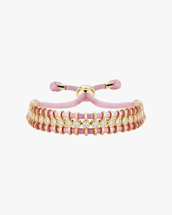 Cord Slider Pink Diamond Bracelet