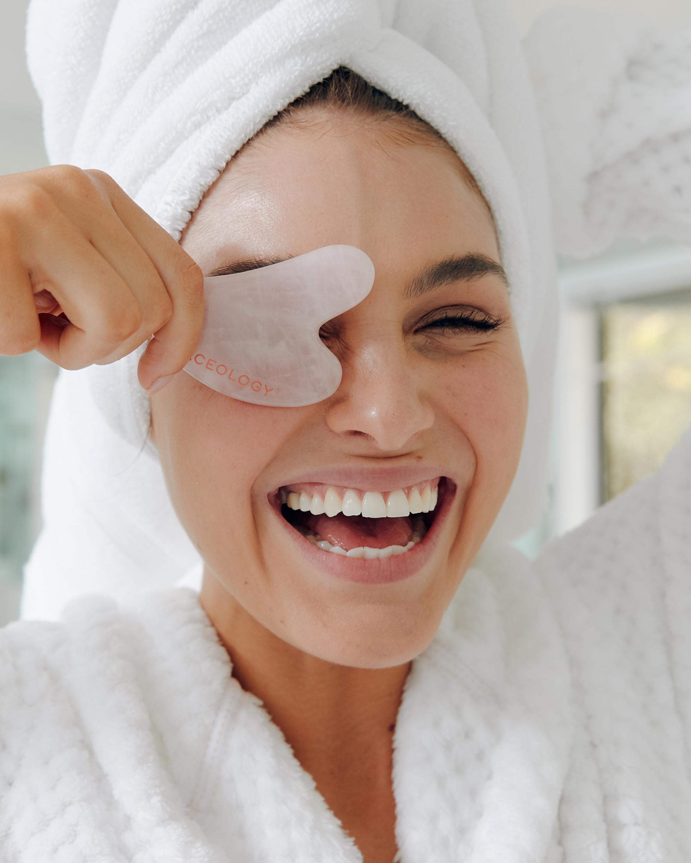 Rose Quartz Gua Sha Facial Massager