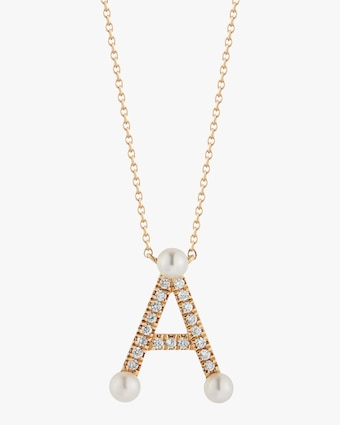Dana Rebecca Designs Pearl Ivy Initial Pendant Necklace 1