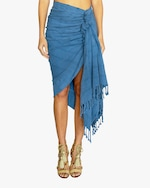 Just Bee Queen Tulum Knotted Wrap Skirt 0