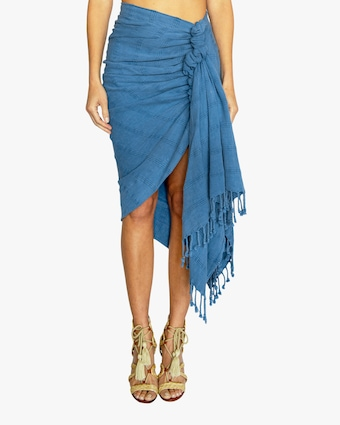 Just Bee Queen Tulum Knotted Wrap Skirt 1