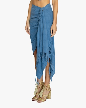 Just Bee Queen Tulum Knotted Wrap Skirt 2