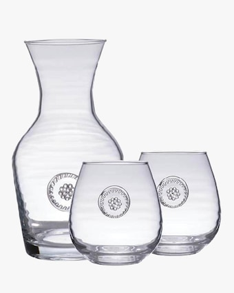 Juliska Berry & Thread Carafe & Red Wine Glass Set 2