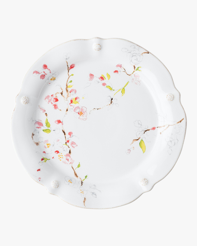 Juliska Berry & Thread Floral Sketch Cherry Blossom Dinner Plate 0