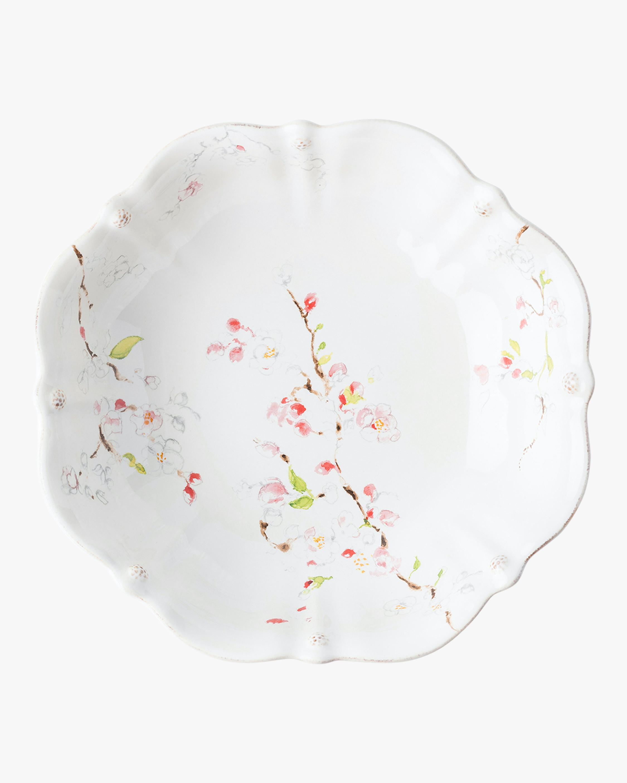 Juliska Berry & Thread Floral Sketch Cherry Blossom Serving Bowl 1
