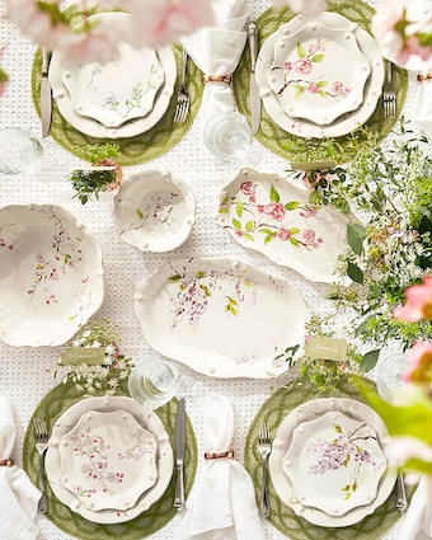 Juliska Berry & Thread Floral Sketch Camellia Hostess Tray 2