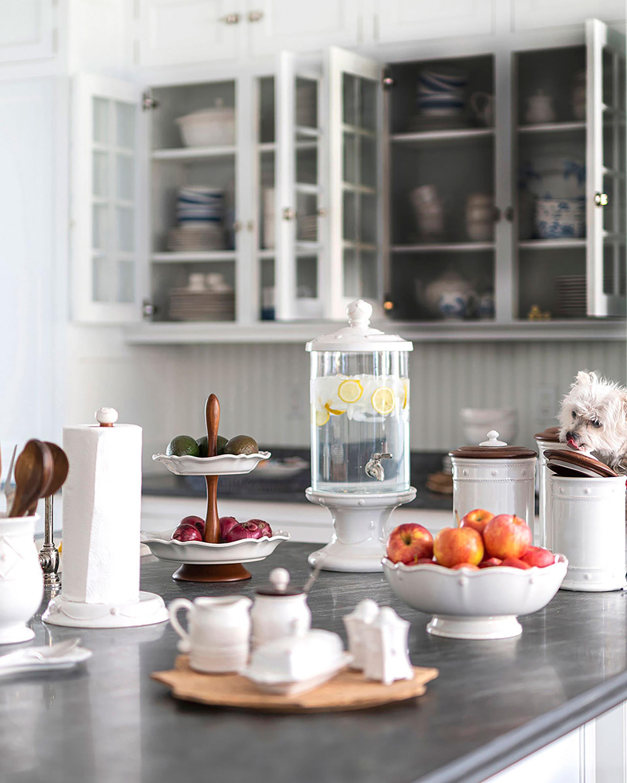 Juliska Berry & Thread Whitewash Salt & Pepper Shaker Set 2