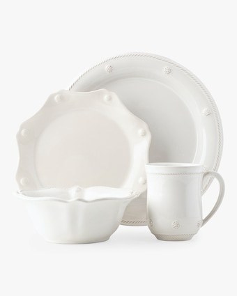 Berry & Thread Whitewash Four-Piece Place Setting