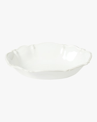 Juliska Berry & Thread Whitewash Oval Serving Bowl - 10in 2