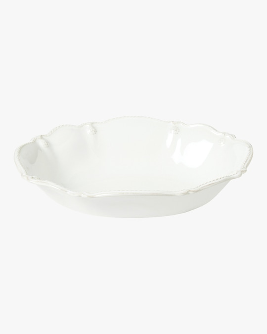 Juliska Berry & Thread Whitewash Oval Serving Bowl - 10in 0