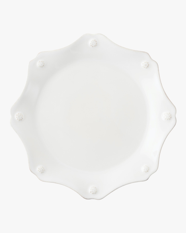 Berry & Thread Whitewash Scallop Dessert Plate