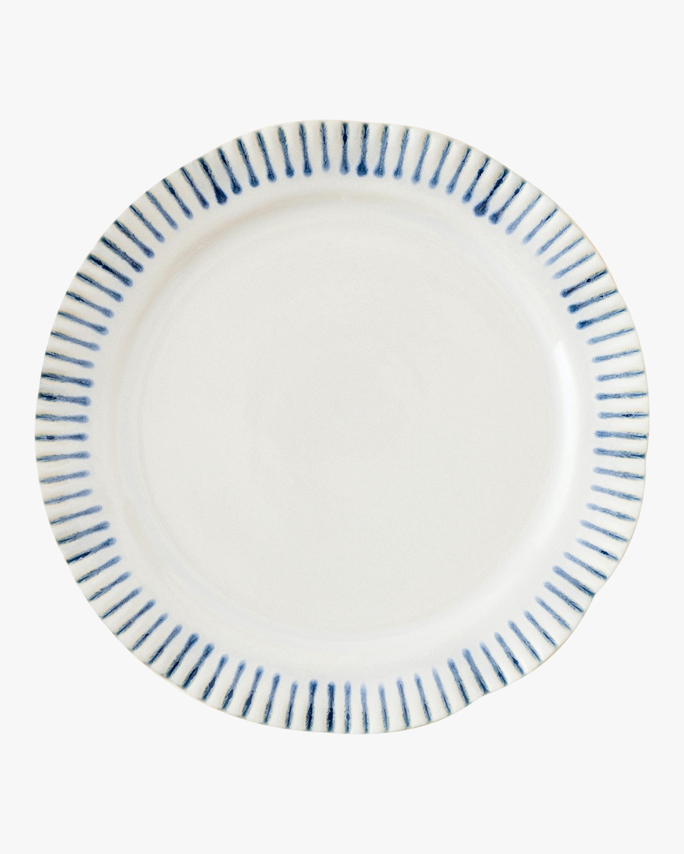 Juliska Sitio Stripe Indigo Dessert Plate 1