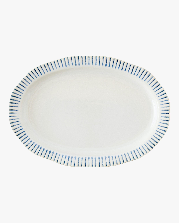 Sitio Stripe Indigo Serving Platter