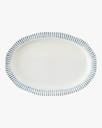 Juliska Sitio Stripe Indigo Serving Platter 1