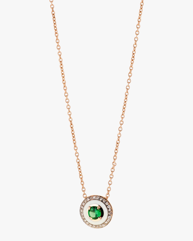 Selim Mouzannar Enamel, Diamond & Tsavorite Pendant Necklace 0