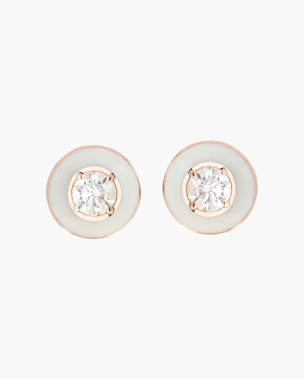 Selim Mouzannar Enamel & Diamond Earrings 1