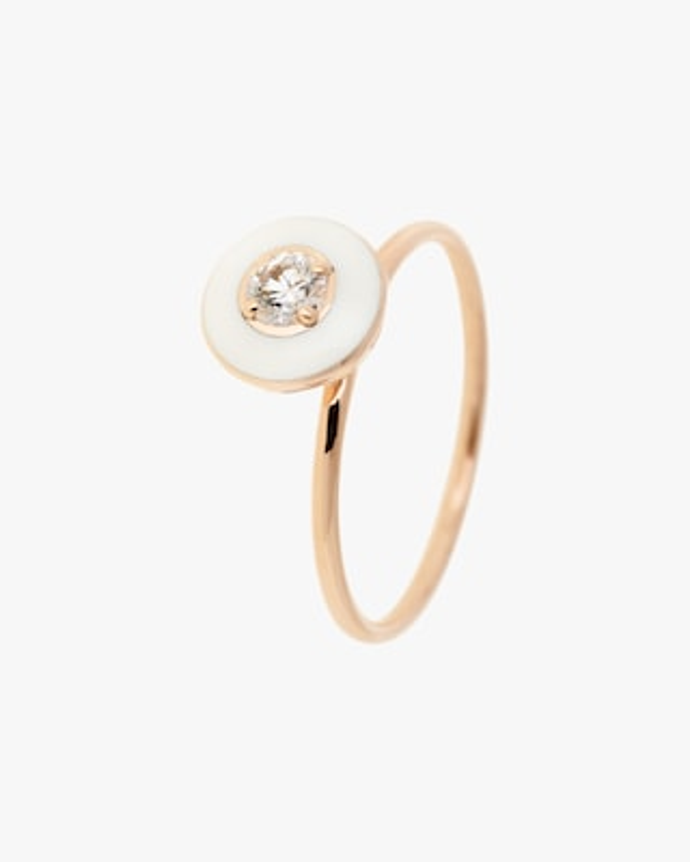Selim Mouzannar Enamel & Diamond Ring 1