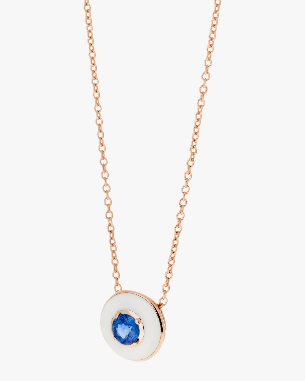 Enamel & Sapphire Pendant Necklace