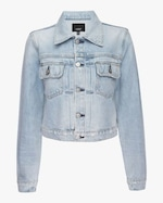 Hudson Lola Shrunken Trucker Denim Jacket 0