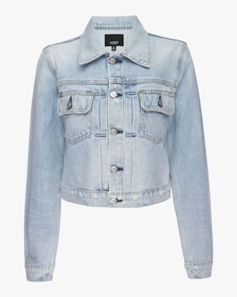 Hudson Lola Shrunken Trucker Denim Jacket 1