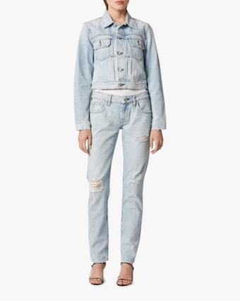 Hudson Lola Shrunken Trucker Denim Jacket 2