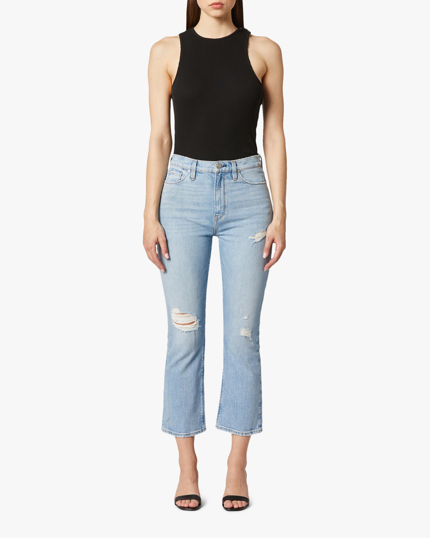 Hudson Holly High-Rise Crop Bootcut Jeans 1