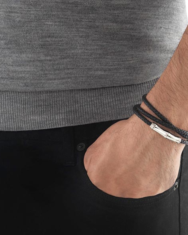 John Hardy Men's Triple-Wrap Leather Bracelet 1