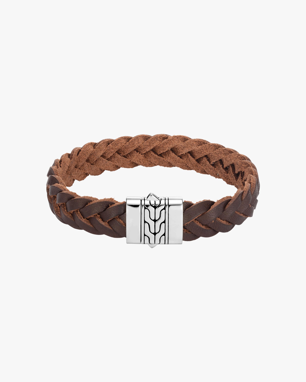 John Hardy Men's Chain-Clasp Leather Bracelet 1