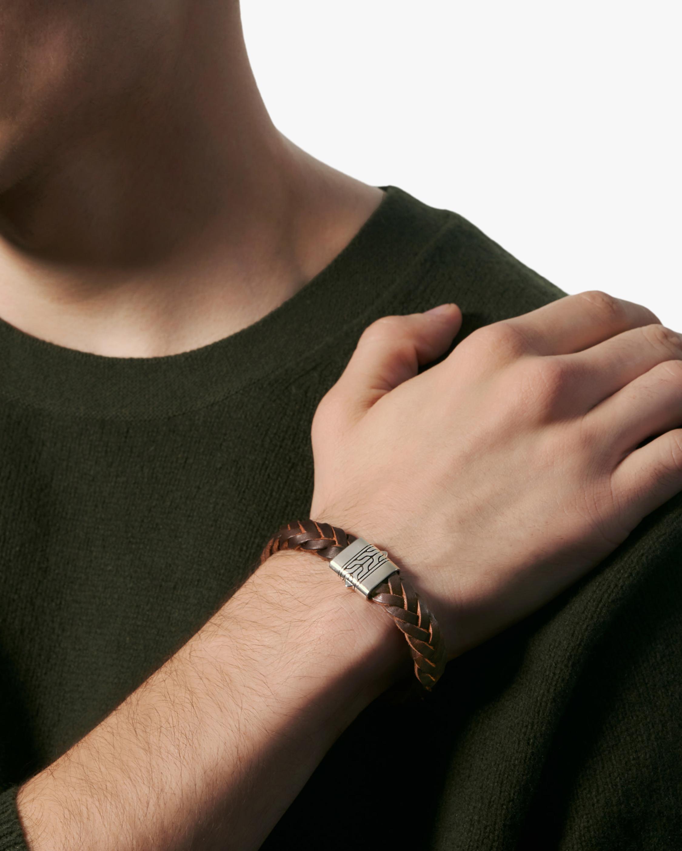 John Hardy Men's Chain-Clasp Leather Bracelet 2