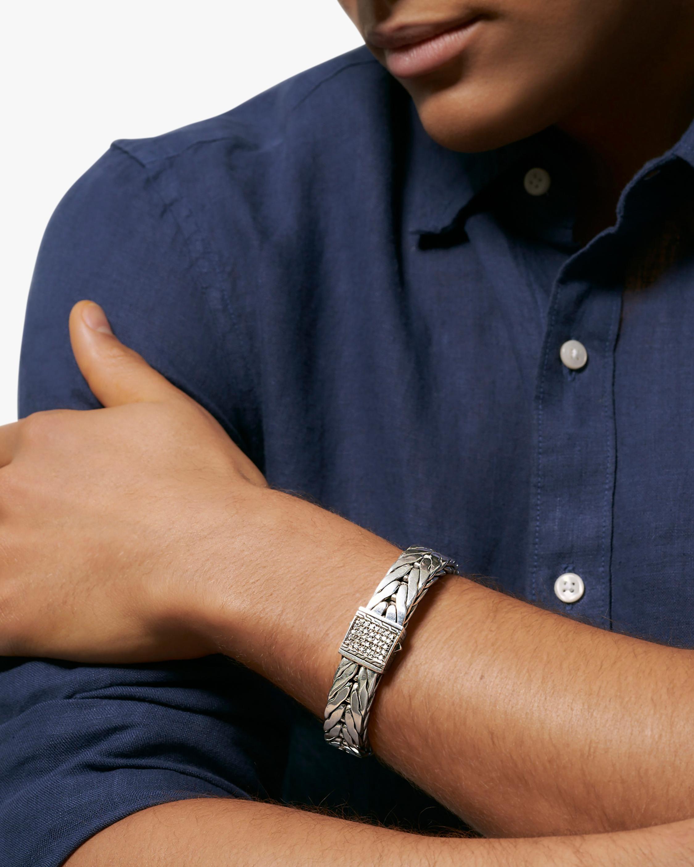 John Hardy Men's Modern Chain Pavé Bracelet 2