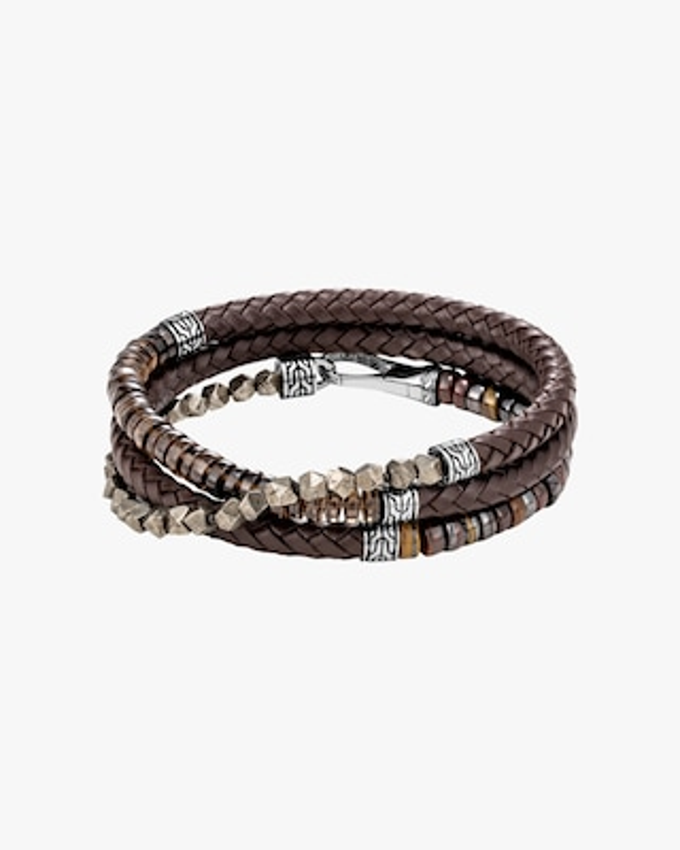 John Hardy Men's Classic Chain Triple-Wrap Leather Bracelet 2