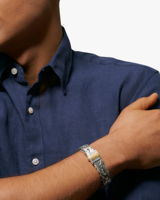 Men's Modern Chain Two-Tone Bracelet
