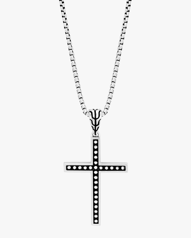 Men's Classic Chain Jawan Cross Pendant Necklace