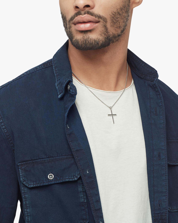John Hardy Men's Classic Chain Jawan Cross Pendant Necklace 1
