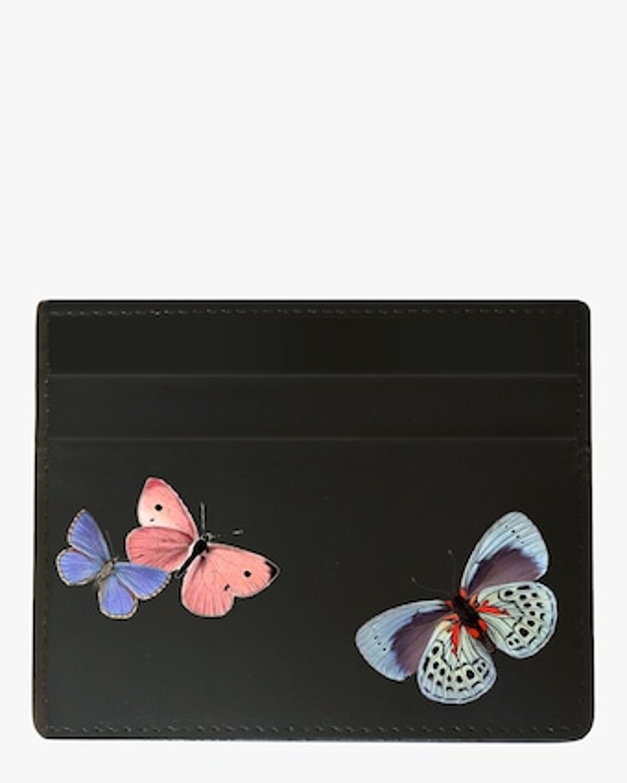 Butterflies Vegan Leather Card Holder