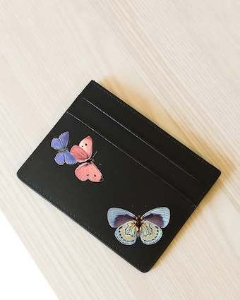 Butterflies Vegan Leather Card Holder