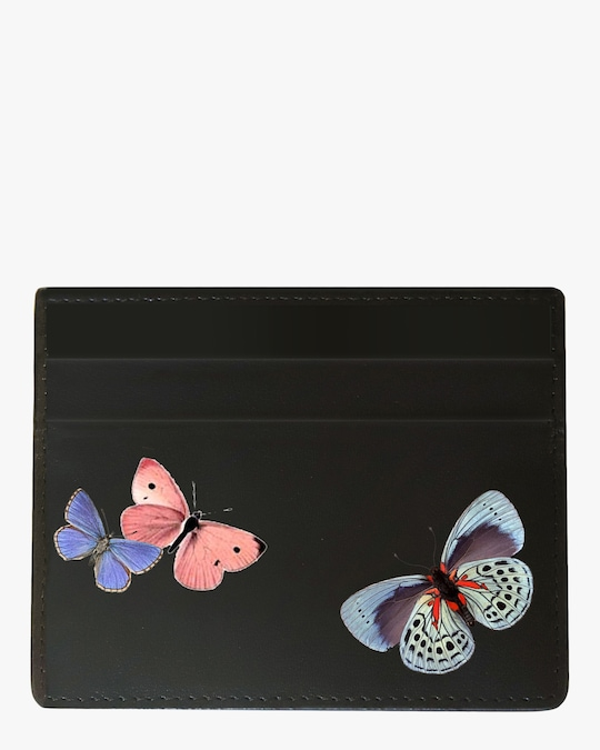 Alepel Butterflies Vegan Leather Card Holder 0