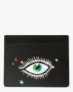 Alepel Eyes & Stars Vegan Leather Card Holder 0