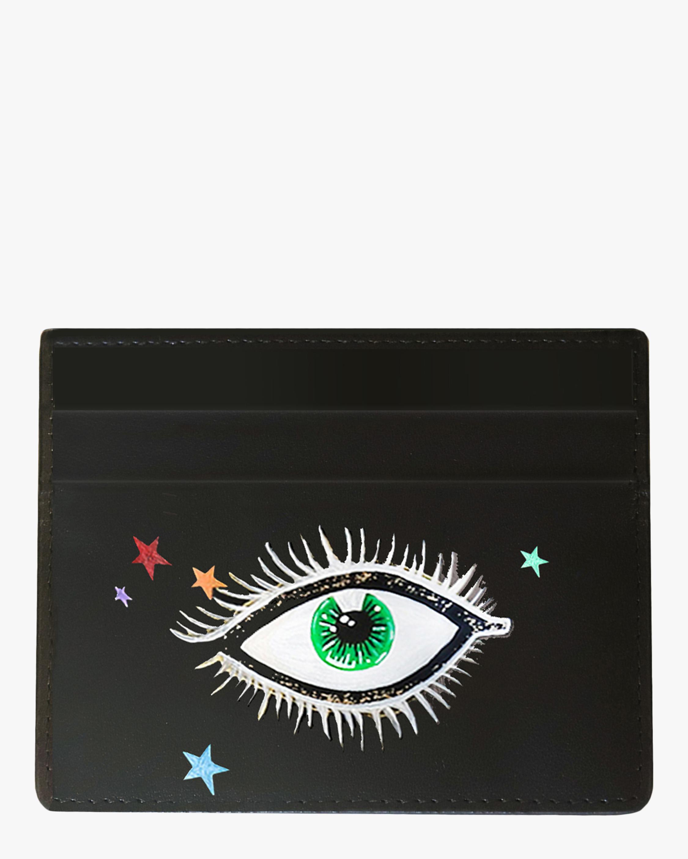 Alepel Eyes & Stars Vegan Leather Card Holder 1