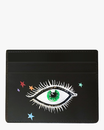 Alepel Eyes & Stars Vegan Leather Card Holder 1