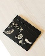 Alepel Feathers Vegan Leather Card Holder 1