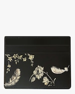 Alepel Feathers Vegan Leather Card Holder 0