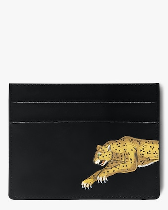 Alepel Leopard Vegan Leather Card Holder 1