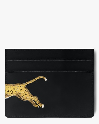 Alepel Leopard Vegan Leather Card Holder 2
